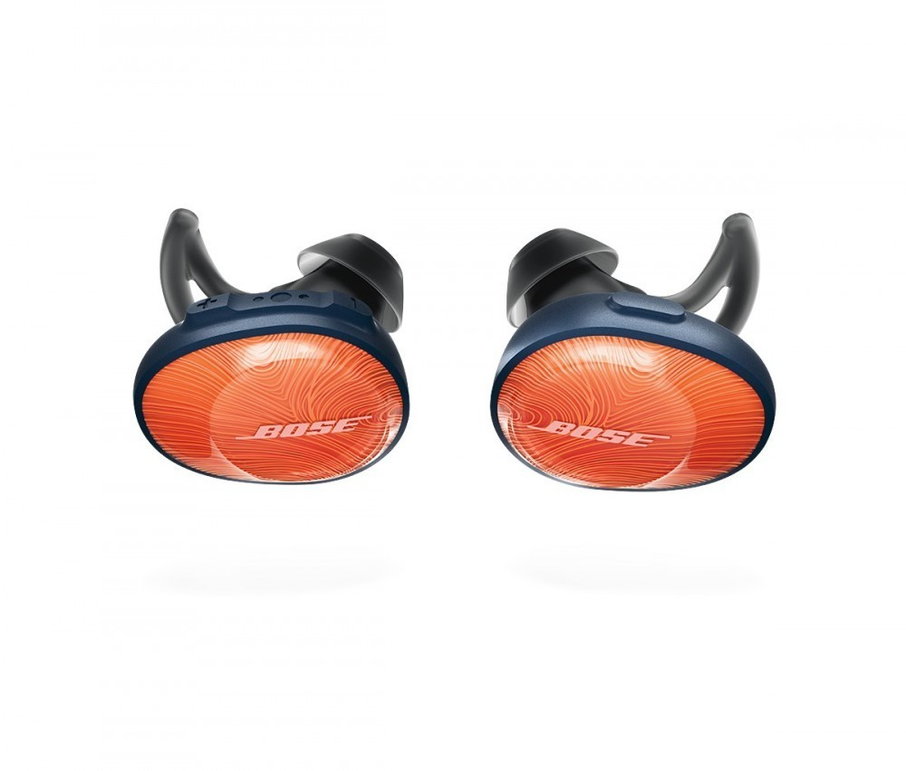 Bose SoundSport Free trådlösa hörlurar  Bright Orange/Midnight Blue