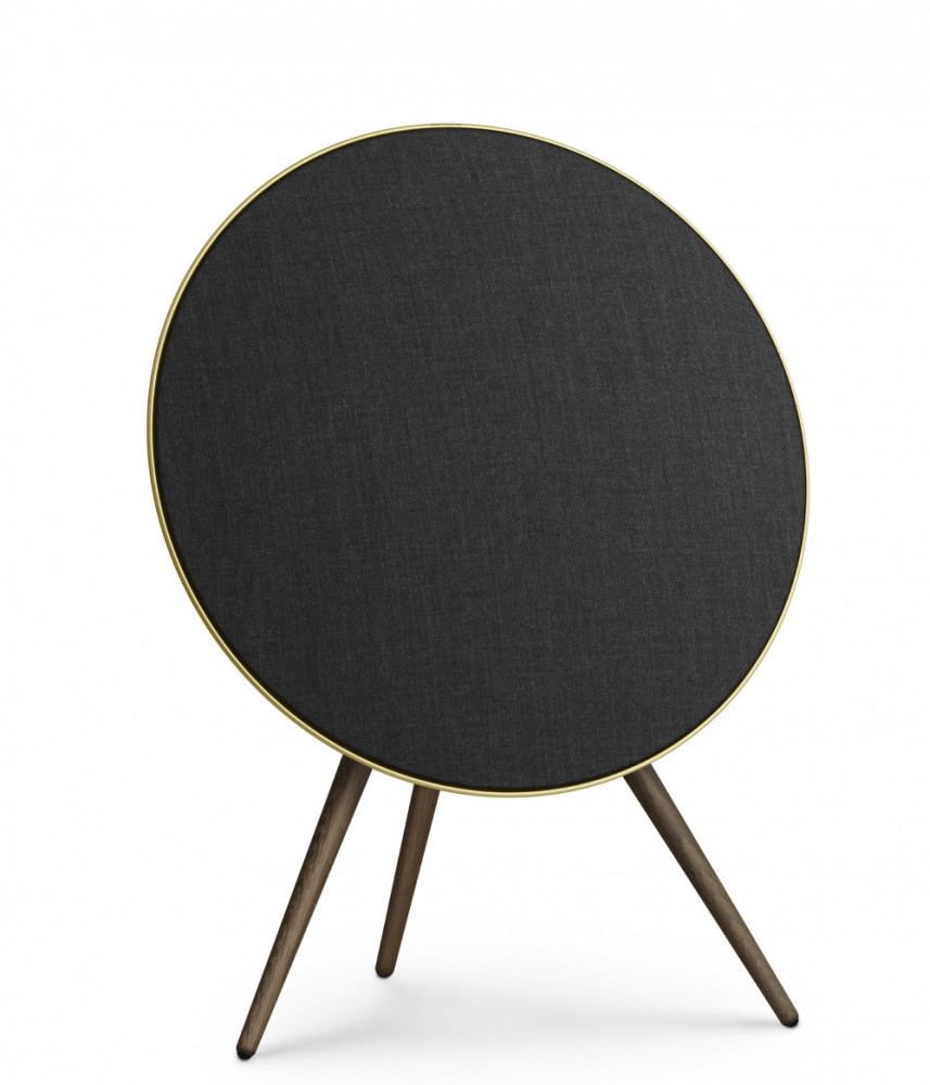 BeoPlay A9 (4:e Gen) med Google Voice Assistant Brass Tone, ben i Smoked Oak