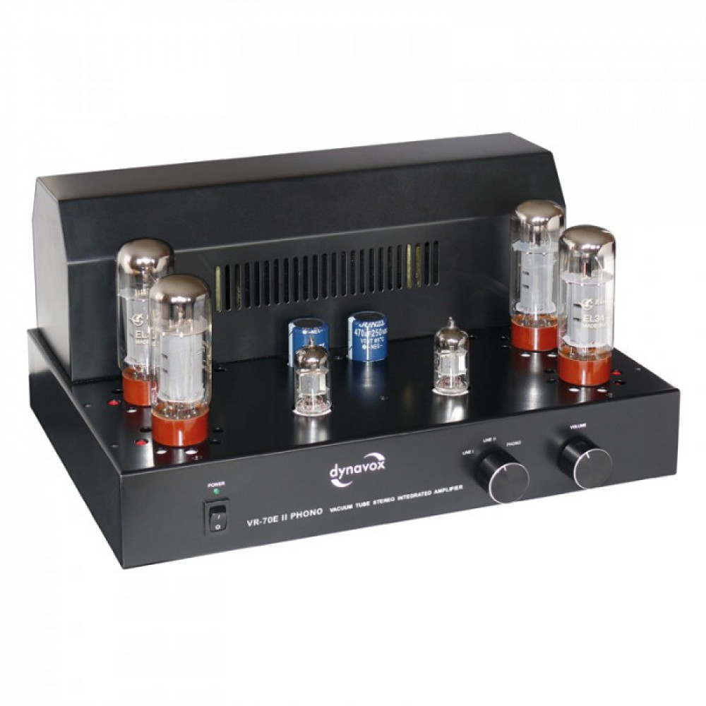 Dynavox VR-70E II Phono Svart/Svart