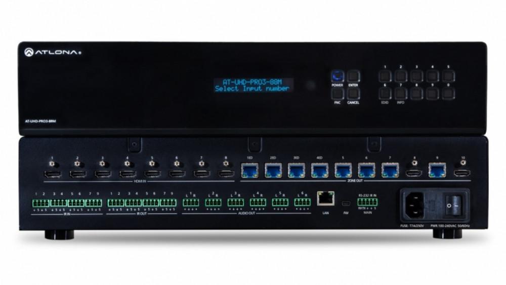 Atlona AT-UHD-PRO3-88M 8x8 HDMI Matrix