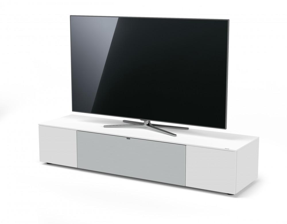 Spectral Sound-Lowboard with fabric flap NXS1804-SNG Snow För TV placerad på bordsstativ