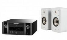 MCR612 (svart) + Polk Audio Signature S20e (vit)
