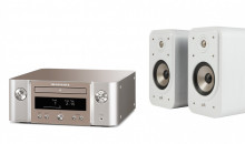 MCR612 (silver) + Polk Audio Signature S20e (vit)