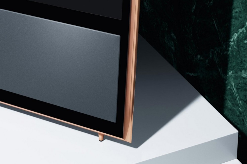 bang olufsen beovision 11 40 46 easel golvstativ rose golden tele h radio tv. Black Bedroom Furniture Sets. Home Design Ideas