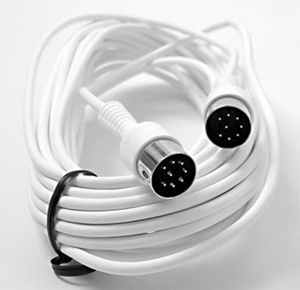 Bang & Olufsen PowerLink kabel DIN/DIN 5mm i diameter, 10m Vit